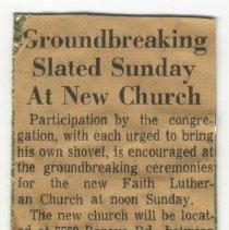 Image of Groundbreaking slated Sunday at new church