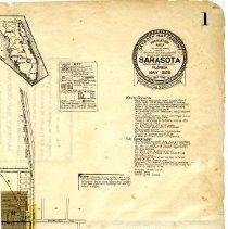 Image of Page 1 Northeast quadrant, Sanborn Fire Insurance Maps Sarasota, Florida