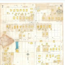 Image of Plate 7, Sanborn Fire Insurance Maps of Sarasota, Florida 1929 map revised