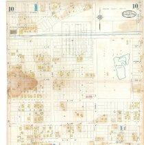 Image of Plate 10, Sanborn Fire Insurance Maps of Sarasota, Florida 1929 map revised