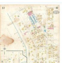 Image of Plate 12, Sanborn Fire Insurance Maps of Sarasota, Florida 1929 map revised