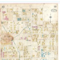 Image of Plate 13, Sanborn Fire Insurance Maps of Sarasota, Florida 1929 map revised