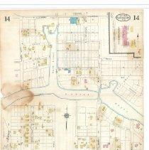 Image of Plate 14, Sanborn Fire Insurance Maps of Sarasota, Florida 1929 map revised