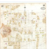 Image of Plate 15, Sanborn Fire Insurance Maps of Sarasota, Florida 1929 map revised