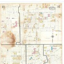 Image of Plate 17, Sanborn Fire Insurance Maps of Sarasota, Florida 1929 map revise