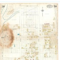 Image of Plate 20, Sanborn Fire Insurance Maps of Sarasota, Florida 1929 map revised
