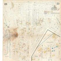 Image of Plate 23, Sanborn Fire Insurance Maps of Sarasota, Florida 1929 map revised