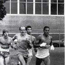 """Image of 1990 Cross Country Running - """"1990 - X-Country, Don Stearns [2nd in from the left]"""""""