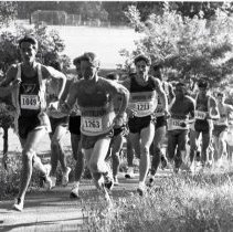 """Image of 1991 Cross Country Running 3-1 - """"10/5/1991 - Cross Country Willamette Invitational at Treasure Valley: Mike Murphy, Marty Doyle"""""""