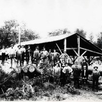 "Image of 1900+/- Oregon, Saw Mill 3 - ""Logging""  This is a posed picture of the some of the rough men who worked in the logging industry in the early 1900's."