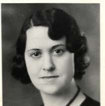 """Image of 1931 Alumni, Lorna Marquis - """"1931 - Lorna Marquis, Charter Years, c. 1929-1939""""  This is a portrait of Lorna Marquis wearing a dark colored sweater over a light colored blouse and a bead necklace."""