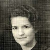 """Image of 1933 Alumni, Alyce Milne - """"1933 - Alyce Milne, Charter Years, c. 1929-1939""""  This is a portrait of Alyce Milne wearing a dark colored blouse."""