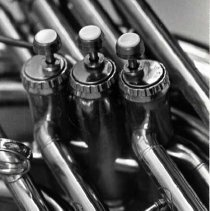 Image of Trumpet Valves - The three valves on a trumpet.