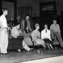 "Image of 1954-55 ""The Man"" 5 - ""Theater, 'The Man,' Roberta Miller, Jack Rye, Marilyn Folkman, Richard Lenhart, Gary McClaine, Jim Dale, 1954-55""