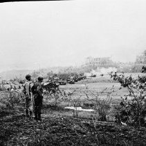 "Image of 503rd Officers Observe Artillery - ""Maj Gen Marquat and Col. George Jones -observe artillery action on Corregidor - from Lantern slide - Bob Flynn, 503rd historian - Signal Corps original"""