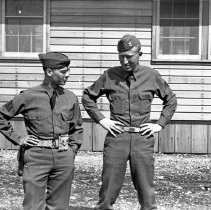 """Image of 41st Cantonment, Sgts - """"186th Infantry - 41st Cantonment - North Fort Lewis  Sgt Lyle Gerber and 162nd Sgt"""""""