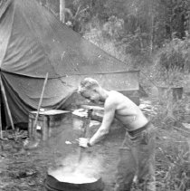"""Image of 186th Infantry, Field Laundry - """"E Co. 186th Infantry - Field exercises - Laundry - Fort Lewis 1941"""""""