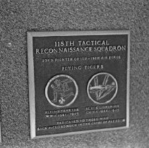 """Image of 5th Airforce Memorial Wall 1 - """"5th Air Force Memorial Wall at the Air Force Academy - Colorado Springs - May 2002""""  Plaque commemorates:  """"118th Tactical Reconnaissance Squadron - Flying Tigers"""""""