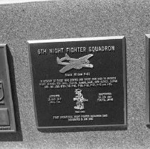 """Image of 5th Airforce Memorial Wall 3 - """"5th Air Force Memorial Wall at the Air Force Academy - Colorado Springs - May 2002""""  Plaque commemorates:  """"6th Night Fighter Squadron"""""""
