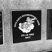 "Image of 5th Airforce Memorial Wall 5 - ""5th Air Force Memorial Wall at the Air Force Academy - Colorado Springs - May 2002""