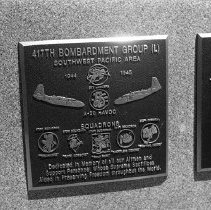 """Image of 5th Airforce Memorial Wall 10 - """"5th Air Force Memorial Wall at the Air Force Academy - Colorado Springs - May 2002""""  Plaque commemorates:  """"417th Bombardment Group"""""""
