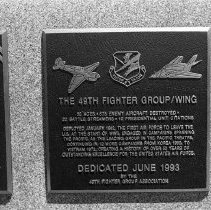 """Image of 5th Airforce Memorial Wall 11 - """"5th Air Force Memorial Wall at the Air Force Academy - Colorado Springs - May 2002""""  Plaque commemorates:  """"49th Fighter Group / Wing"""""""