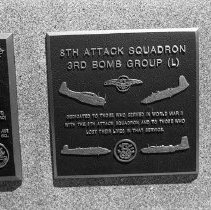 """Image of 5th Airforce Memorial Wall 12 - """"5th Air Force Memorial Wall at the Air Force Academy - Colorado Springs - May 2002""""  Plaque commemorates:  """"8th Attack Squadron - 3rd Bomb Group"""""""