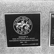 """Image of 5th Airforce Memorial Wall 13 - """"5th Air Force Memorial Wall at the Air Force Academy - Colorado Springs - May 2002""""  Plaque commemorates:  """"8th Photo Recon Sqdn"""""""