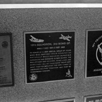 """Image of 5th Airforce Memorial Wall 14 - """"5th Air Force Memorial Wall at the Air Force Academy - Colorado Springs - May 2002""""  Plaque on right commemorates:  """"66th Troop Carrier Squadron""""  (Plaque in middle is much easier to read in 2010.1.1650"""""""