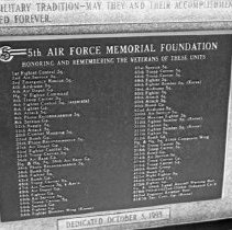 "Image of 5th Airforce Memorial Wall 16 - ""5th Air Force Memorial Wall at the Air Force Academy - Colorado Springs - May 2002"""