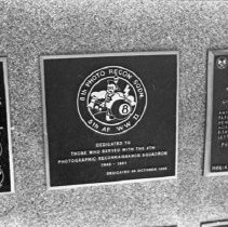 """Image of 5th Airforce Memorial Wall 17 - """"5th Air Force Memorial Wall at the Air Force Academy - Colorado Springs - May 2002""""  Plaque commemorates:  """"8th Photo Recon Sqdn"""""""