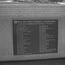 "Image of 5th Airforce Memorial Wall 18 - ""5th Air Force Memorial Wall at the Air Force Academy - Colorado Springs - May 2002"""