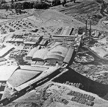 """Image of Aerial, Wallowa Sawmill - """"Sawmill at Wallowa"""""""