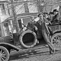 "Image of Automobile, 1917 - ""Teachers Institute at Baker 1917(?)    Ryder -    Walter Meacham    Nina Kance    Nellie Rush"""