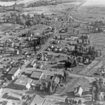 """Image of Aerial, Elgin 1 - """"Elgin Oregon 1940 - taken from Oscar Knight's Piper Cub  original from 2 1/4 x 3 1/4 speed graphic"""""""