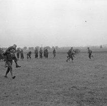"Image of 41st Division, Recreation 2 - ""41st Division 1941 - Recreation:  Piggy back race"""
