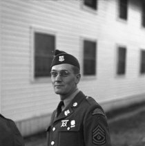 "Image of 41st Cantonment, Sgt Petersen - ""41st Division 1941 - Pertaining to the new 41st Cantonment area - N. Ft. Lewis - 1st Sgt Howard Petersen"""