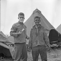 """Image of 41st Division, Soldiers - """"41st Division - E Co. 186 Inf. Camp Murray - 1940 - Eugene Winters - Grant Hendrickson"""""""