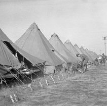 "Image of 41st Division, Camp Murray 5 - ""41st Division - Oct. 1940 - first 'homes' at Camp Murray - Ft. Lewis"""