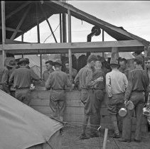 "Image of 41st Division, Chow Line - ""41st Division E Co. 186 Inf. - Chow line formed"""