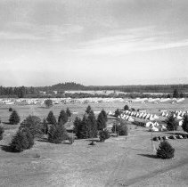 "Image of 41st Division, Camp Murray 7 - ""41st Division - Jan. 1941 - Views over Camp Murray from the top of the water tower - tent areas - taken by Sgt. Bob Spencer using Fred Hill's speed graphic camera"""