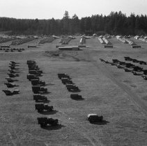 "Image of 41st Division, Camp Murray 8 - ""41st Division - Jan. 1941 - Views over Camp Murray from the top of the water tower - motor pool - tent areas - taken by Sgt. Bob Spencer using Fred Hill's speed graphic camera"""