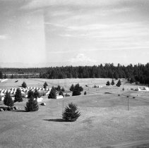 "Image of 41st Division, Camp Murray 11 - ""41st Division - Jan. 1941 - Views over Camp Murray from the top of the water tower - tent areas - taken by Sgt. Bob Spencer using Fred Hill's speed graphic camera"""