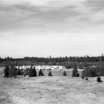 "Image of 41st Division, Camp Murray 13 - ""41st Division - Jan. 1941 - Views over Camp Murray from the top of the water tower - tent areas - taken by Sgt. Bob Spencer using Fred Hill's speed graphic camera"""