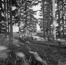 """Image of 186th Infantry, Hike 1 - """"186th Infantry at Camp Murray - Fort Lewis - 1940 - A 10 mile hike before lunch"""""""