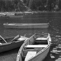 """Image of Wallowa Lake, Rowboats 1 - """"College Men's Club Weekend at Wallowa Lake - April 1940"""""""
