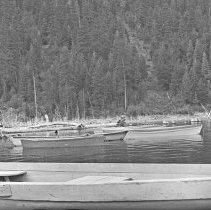 """Image of Wallowa Lake, Rowboats 2 - """"College Men's Club Weekend at Wallowa Lake - April 1940"""""""