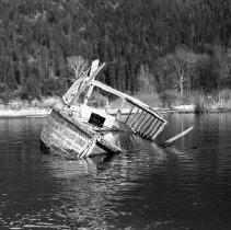 """Image of Wallowa Lake, Wreckage - """"College Men's Club Weekend at Wallowa Lake - April 1940"""""""