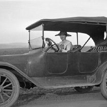 "Image of Automobile, Stella Benshadler - ""Stella Benshadler - Fred Huffman's fiance - 1925+/-""  ""Dodge Touring car"""