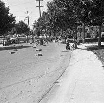 "Image of California, Bike / Trike Rodeo 1 - ""Bike / Trike Regatta on Via Pinale - March of Dimes fund - Organized by Sally Salo - 1948"""